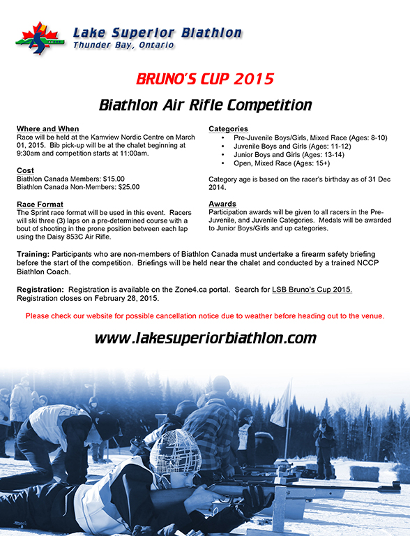 2015 Bruno's Cup Invitation