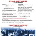 2015-16 Biathlon Bears Programs