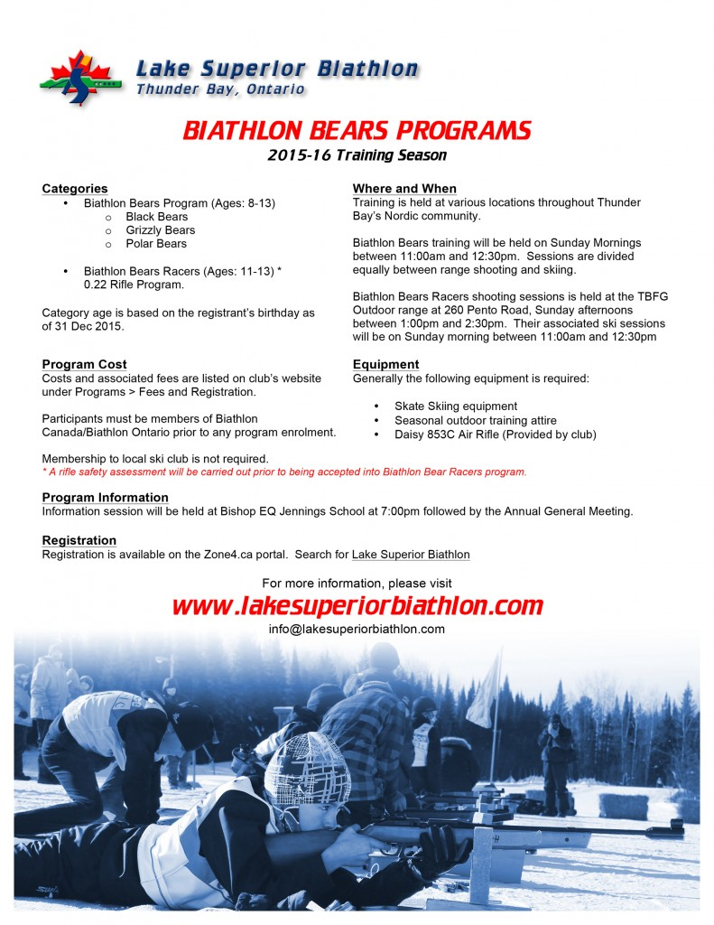 2015-16 Biathlon Bears Programs